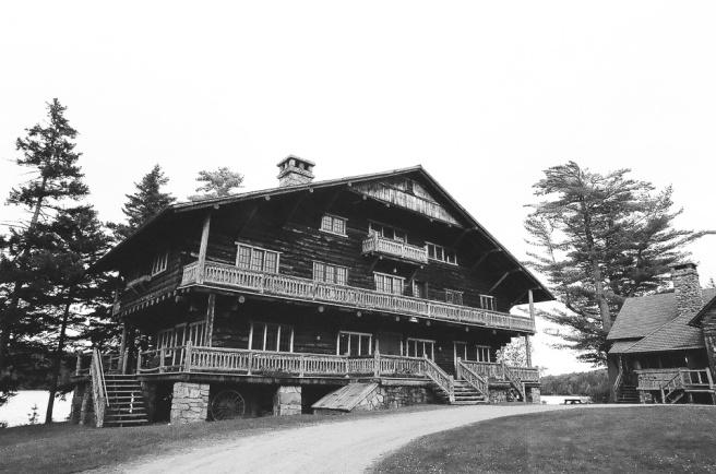 Great Camp Sagamore in Black & White
